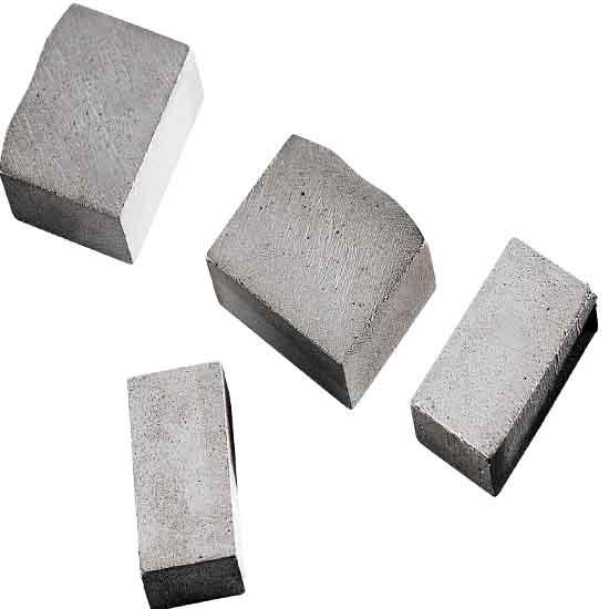 砂岩大刀头,砂岩锯片结块,砂岩荒料切割锯片专用刀头