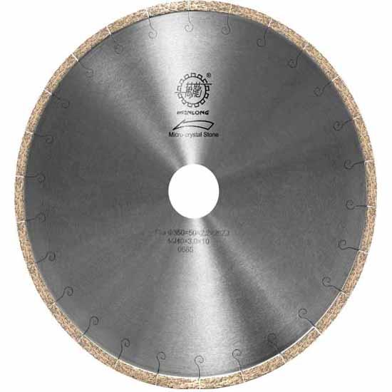 扇形微晶石切边锯片,鱼钩片,高频焊接金刚石圆锯片