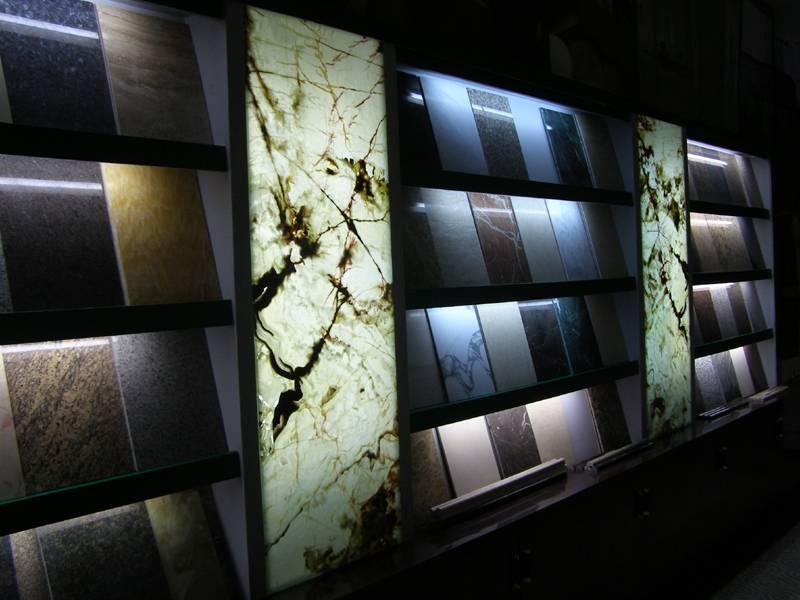 透光石材复合板