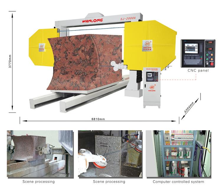 石材圆弧加工机械,石材数控绳锯加工异形石材,石材圆柱加工机械,石材圆弧加工绳锯机