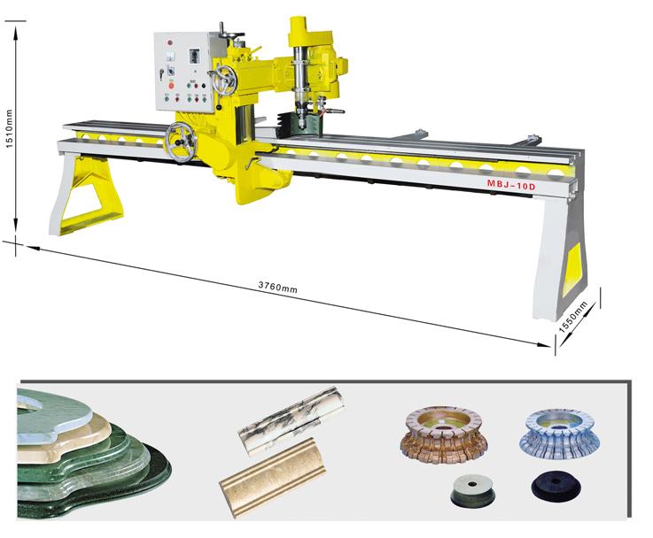 石材磨边机加工效果和加工工具,石材花线加工机械,石材线条加工机,石材磨边加工机械